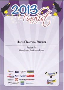 130831 - Finalist for Homebased Business Award