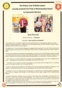 140501 - Pride of Workmanship Award