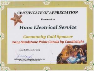 141205 - Certificate of Appreciation