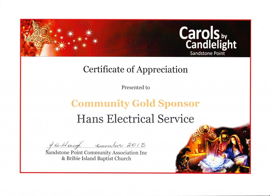 151201 - Certificate of Appreciaton Carols by Candlelight